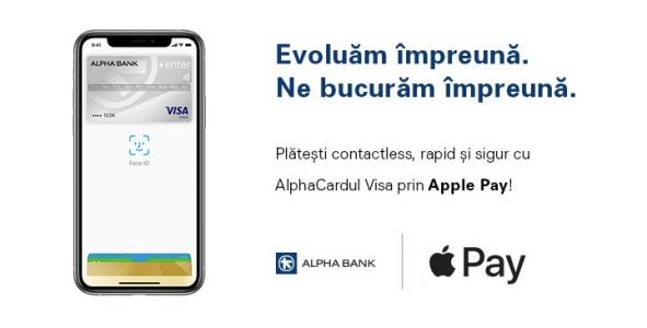 Alpha Bank Romania, aduce astăzi clienților săi Apple Pay
