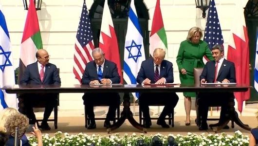 Emiratele Arabe Unite si Bahrein au semnat la Casa Alba acorduri de pace cu Israelul